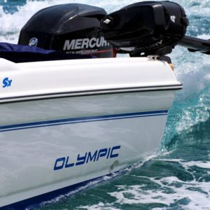 Photo of Olympic 4.90 sx Mercury engines on boat