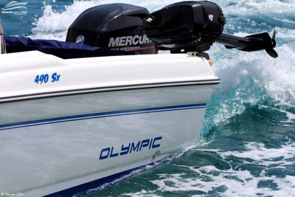 Photo of Olympic 4.90 sx Mercury engines on boat
